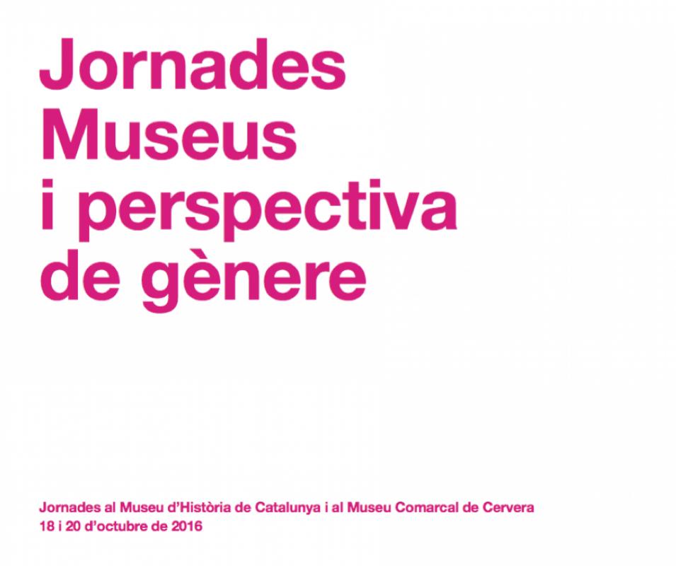 cartell Jornades Museus i perspectiva de ge?nere