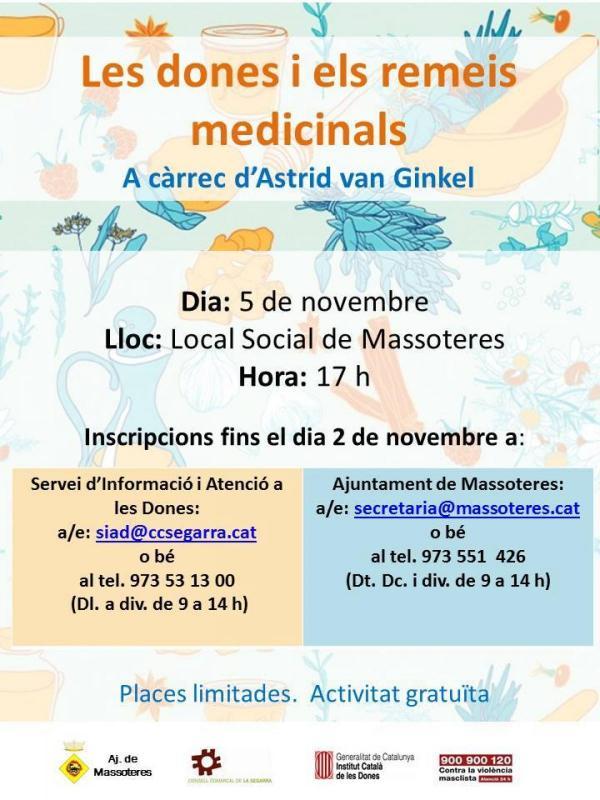 cartell Les dones i els remeis medicinals