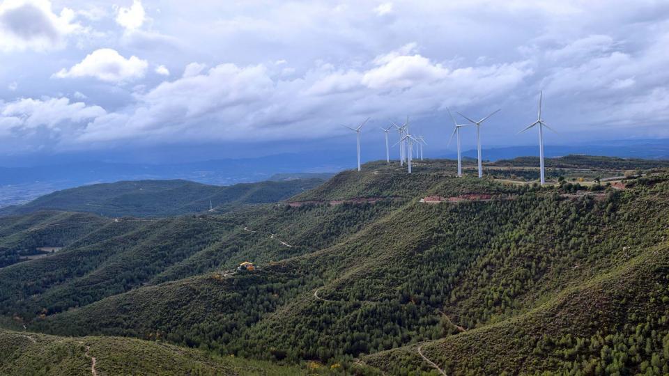 Parc eòlic de  Les Maioles a Rubió - Rubió