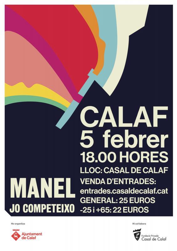 cartell Concert del grup Manel