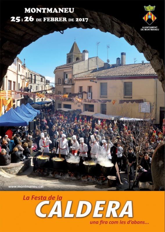 cartell Festa de la Caldera - Montmaneu