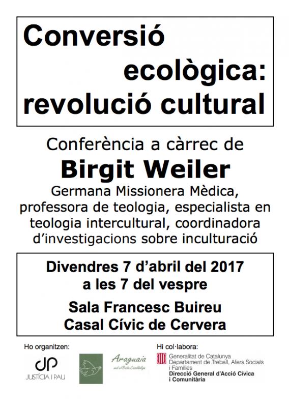 cartell Conversió ecològica: revolució cultural
