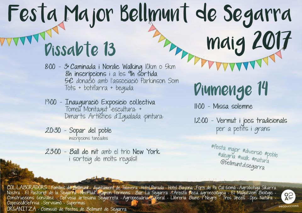 13.05.2017 cartell Festa  Major 2017  Bellmunt de Segarra -  Bellmunt de Segarra