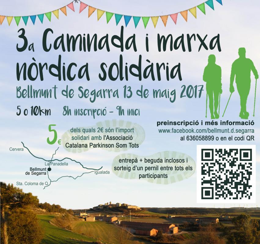 13.05.2017 cartell 3ª Caminada i Marxa Nòrdica  Bellmunt de Segarra -  Bellmunt de Segarra