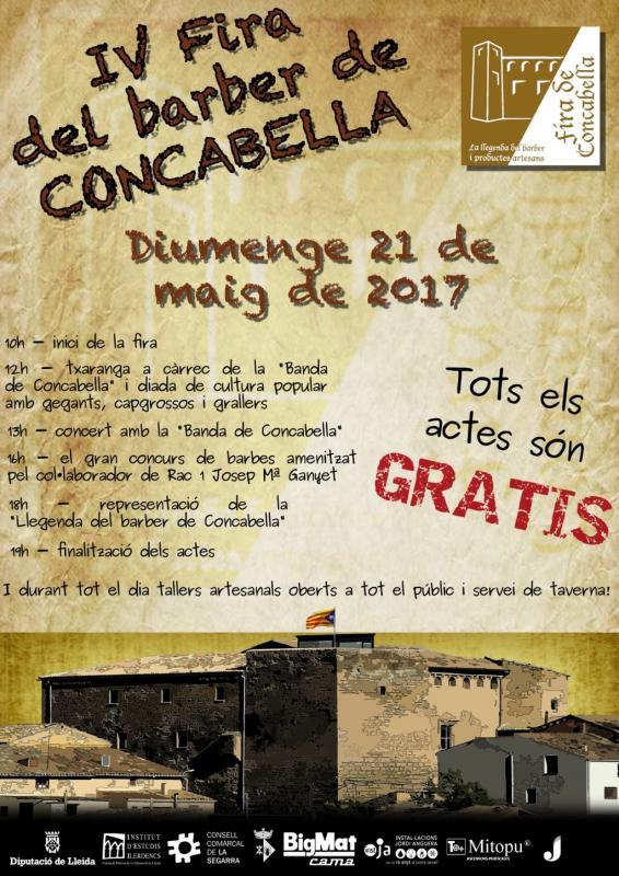 cartell 4a Fira del Barber - Concabella