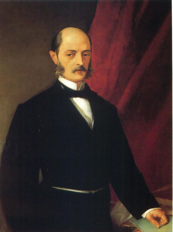 Retrat de Laureà Figuerola Ballester, al Palacio del Senado de España