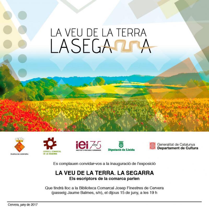 cartell Exposició 'La veu de la terra. La Segarra'