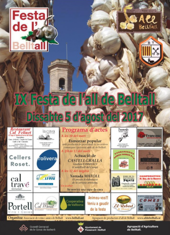 cartell IX Festa de l'all de Belltall
