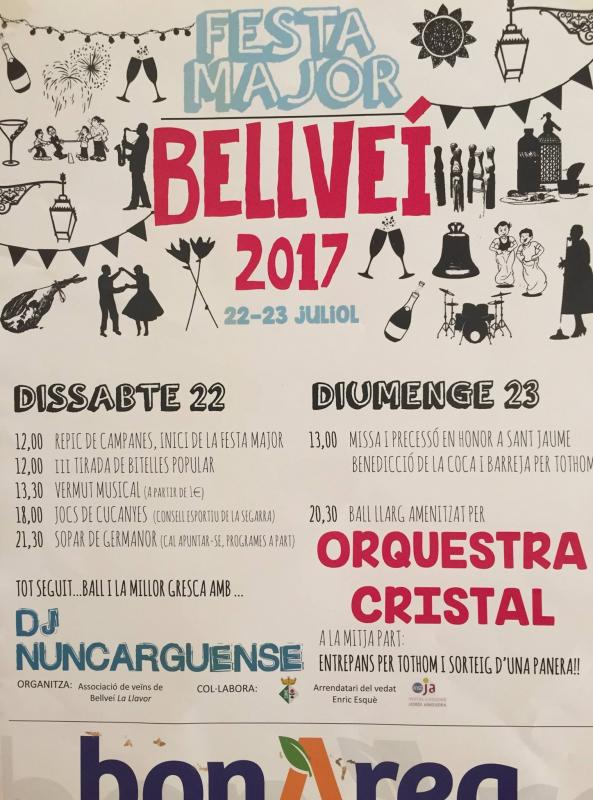 cartell Festa Major de Bellveí 2017
