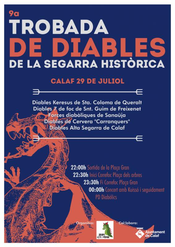 cartell 9a Trobada de Diables de la Segarra Històrica