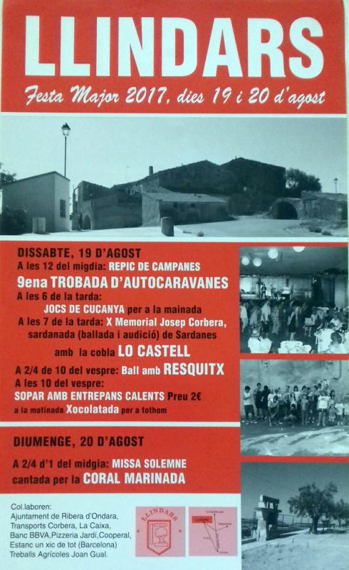 cartell Festa Major de Llindars 2017