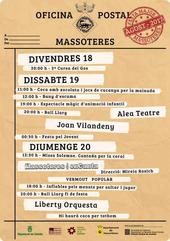 cartell Festa Major de Massoteres 2017
