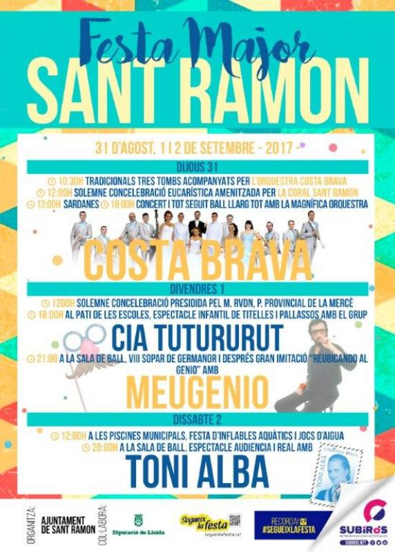 cartell Festa Major de Sant Ramon 2017