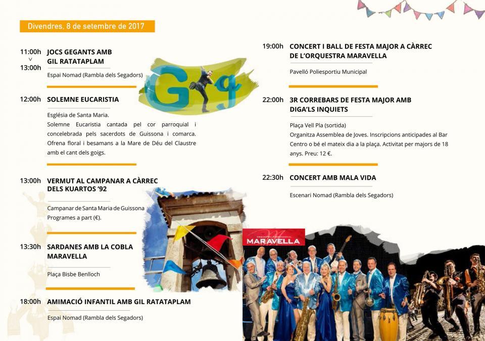 actes divendres Festa Major de Guissona 2017 - Guissona