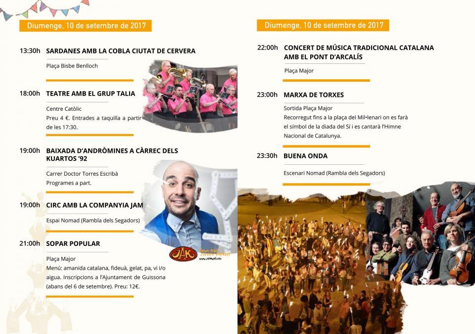actes diumenge Festa Major de Guissona 2017 - Guissona