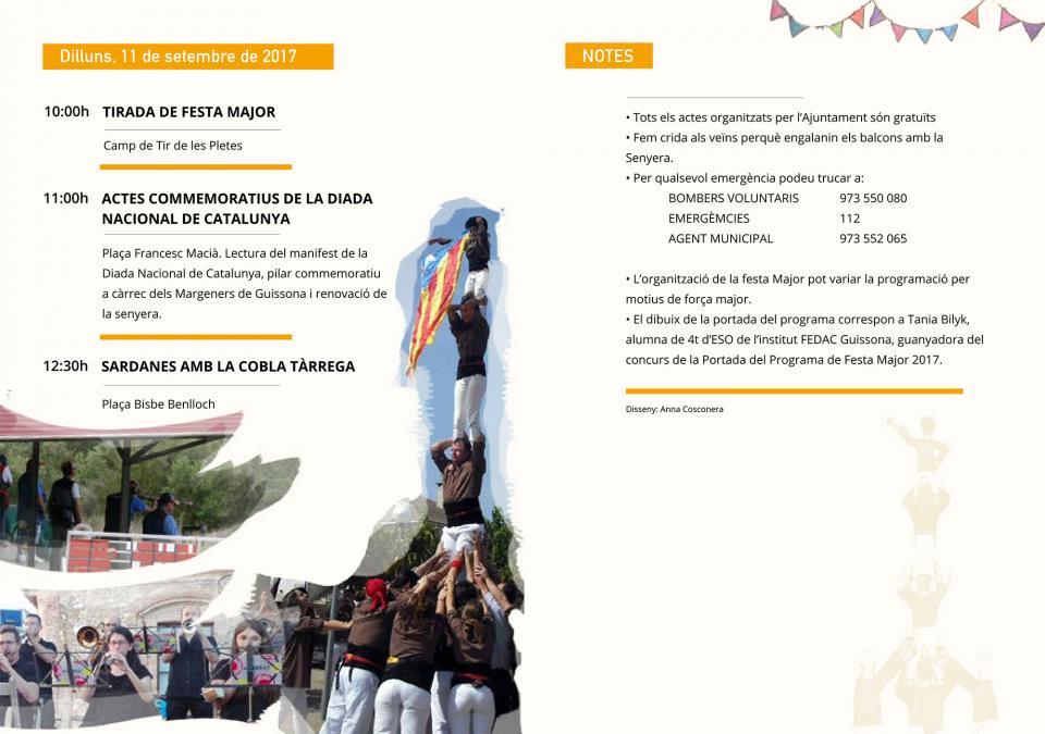 actes dilluns Festa Major de Guissona 2017 - Guissona