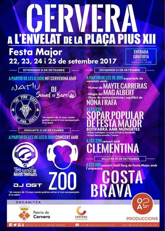 cartell Festa major del Sant Crist de Cervera 2017
