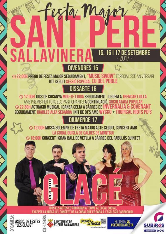 cartell Festa Major de Sant Pere Sallavinera 2017
