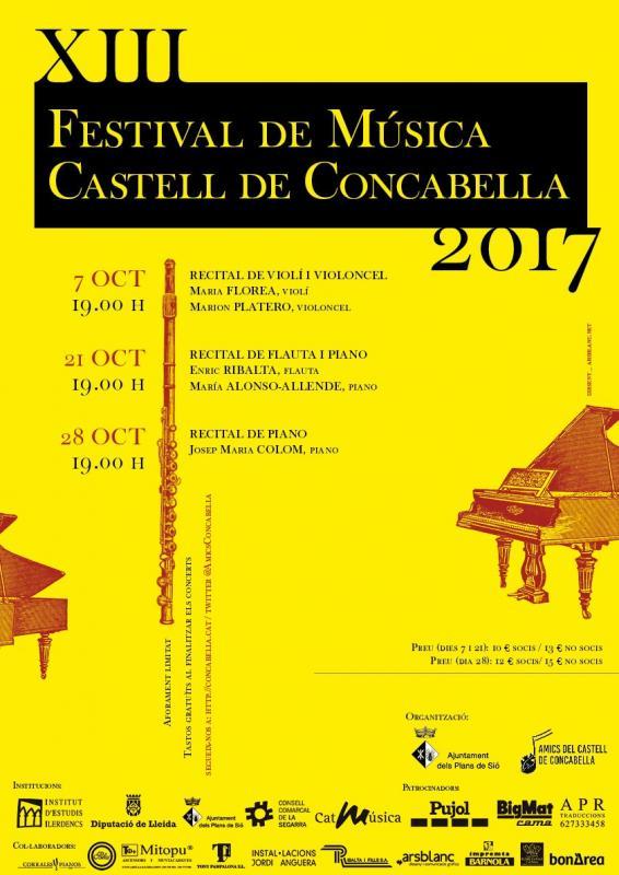 cartell 13è Festival de Música Castell de Concabella