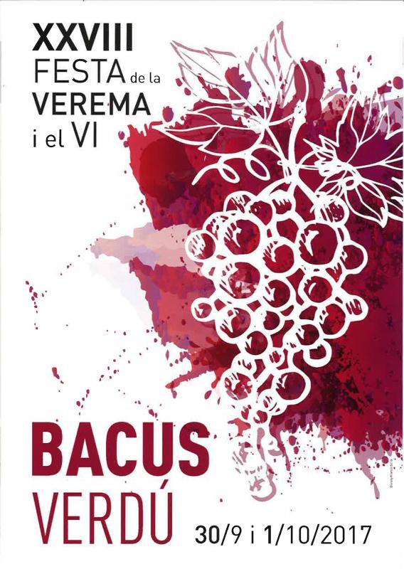 cartell 28a Festa de la Verema i el Vi Bacus Verdú