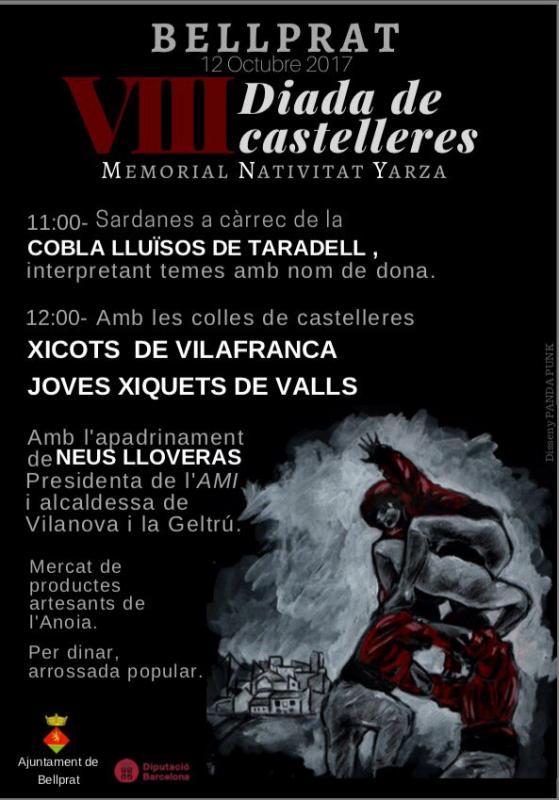 cartell 8a Diada castellera Natividad Yarza a Bellprat - Bellprat