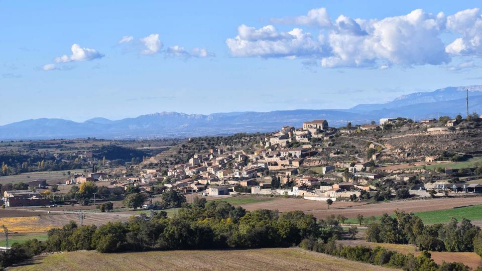 05.11.2017 Vista del poble  Les Oluges -  Ramon Sunyer