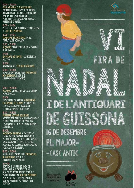cartell VI Fira de Nadal i de l'antiquari de Guissona