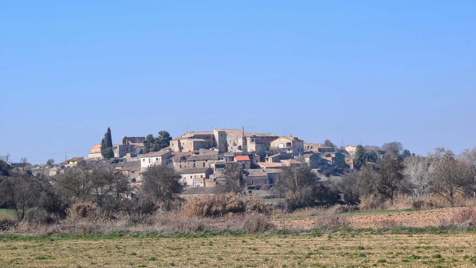 25.02.2018 Vista del poble  La Prenyanosa -  Ramon Sunyer