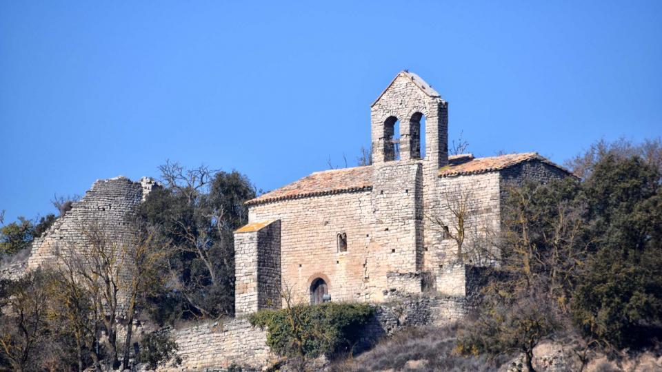 25.02.2018 Torre i Església de Santa Maria  Gàver -  Ramon Sunyer