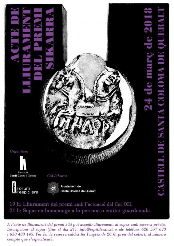 La setena edició del Premi Sikarra guardona l'Associació Cultural Baixa Segarra pel seu compromís amb el territori -