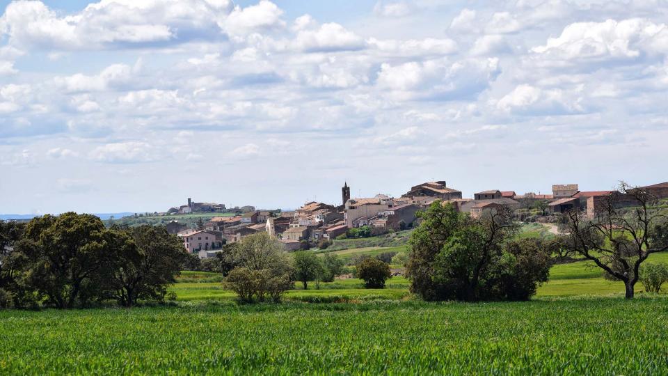 30.04.2018  vista del poble  Les Pallargues -  Ramon Sunyer