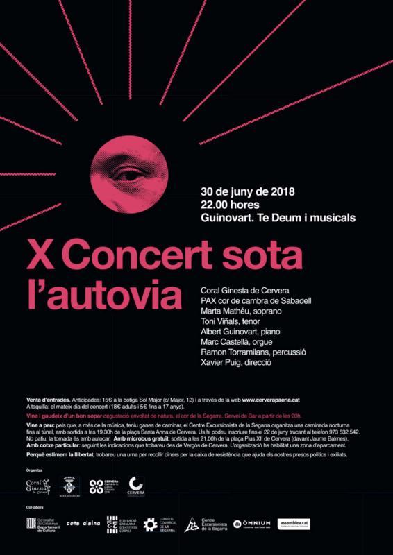X Concert sota l'autovia a Cervera