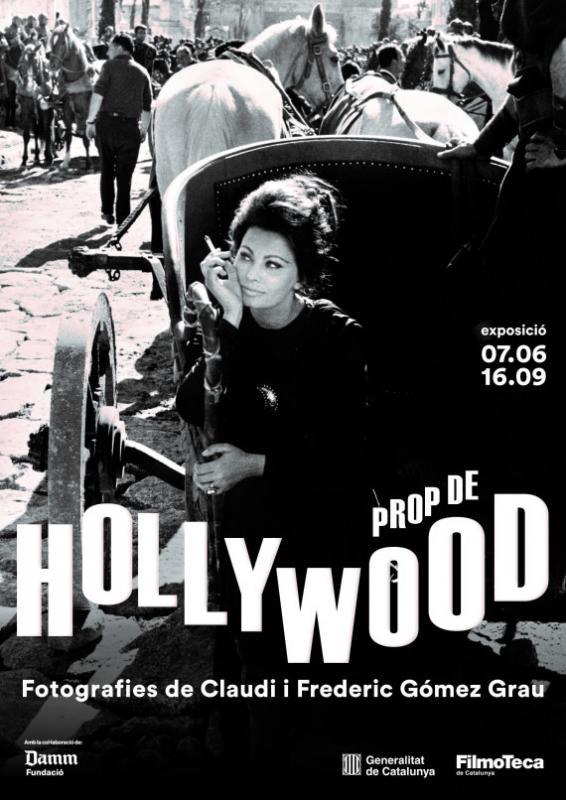 cartell exposició 'Prop de Hollywood' a la Filmoteca de Catalunya -