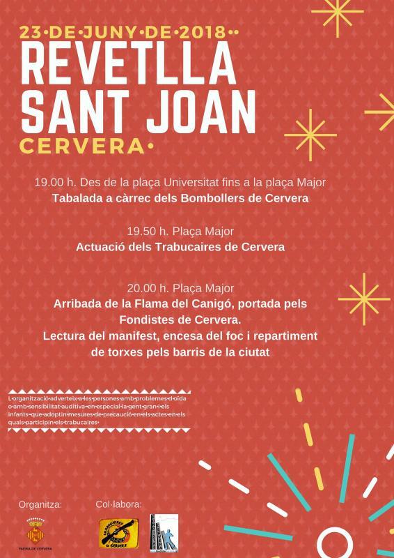 Revetlles de Sant Joan 2018 Cervera -