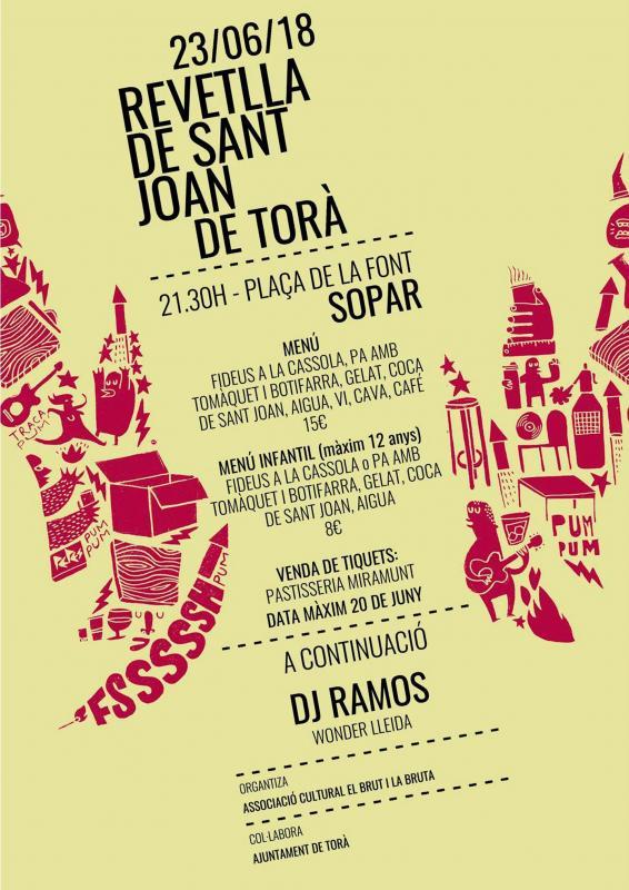 Revetlles de Sant Joan 2018 Torà -
