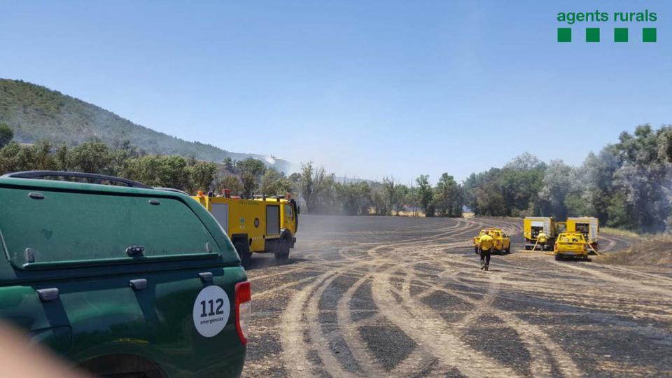 Controlat l'incendi agrícola de Talteüll -