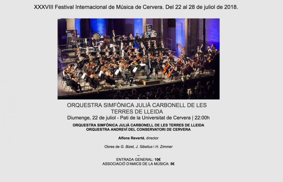 XXXVIII Festival Internacional de Música de Cervera - Cervera