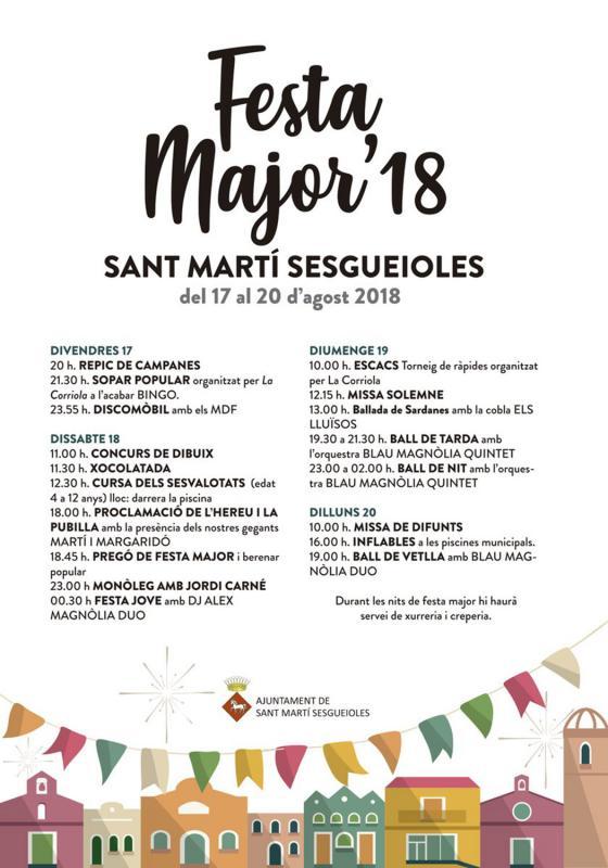 Festa Major de Sant Martí Sesgueioles 2018