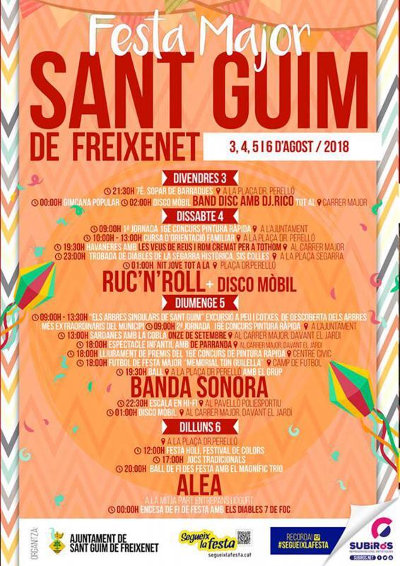 Festa Major Sant Guim de Freixenet 2018
