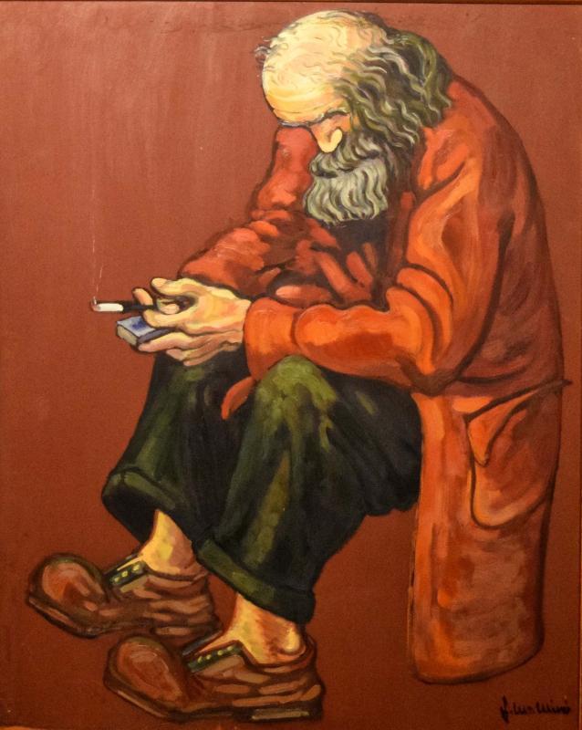 05.08.2018 Home pensant (oli)  -  Miró i Rosinach