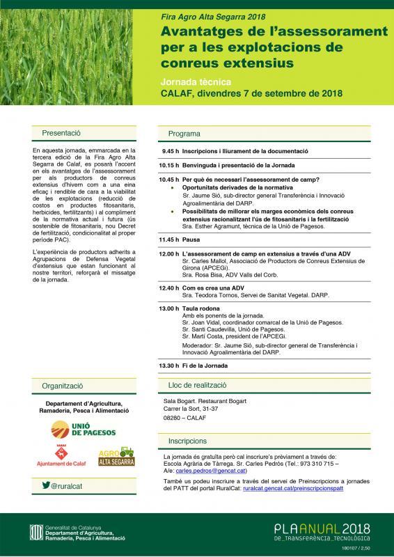 Jornada Tècnica 3a Fira Agro Alta Segarra - Calaf