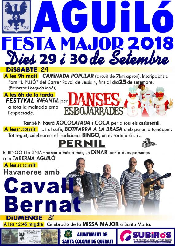 Festa Major d'Aguiló 2018