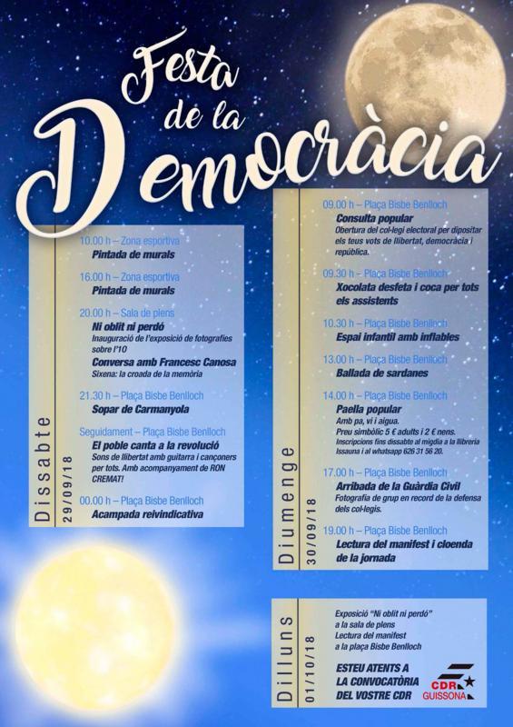 Actes commemoratius 1-Octubre Guissona