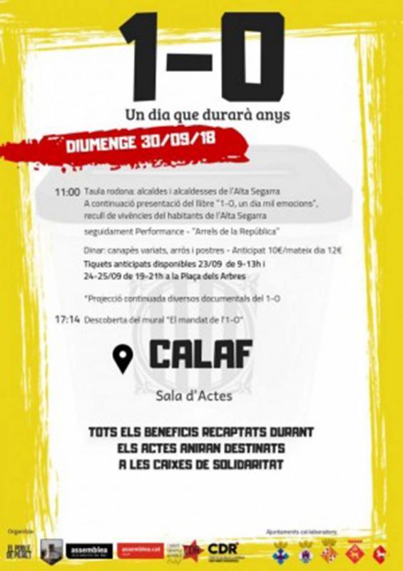 Actes commemoratius 1-Octubre Calaf -