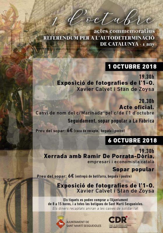 Actes commemoratius 1-Octubre Sant Martí Sesgueioles -