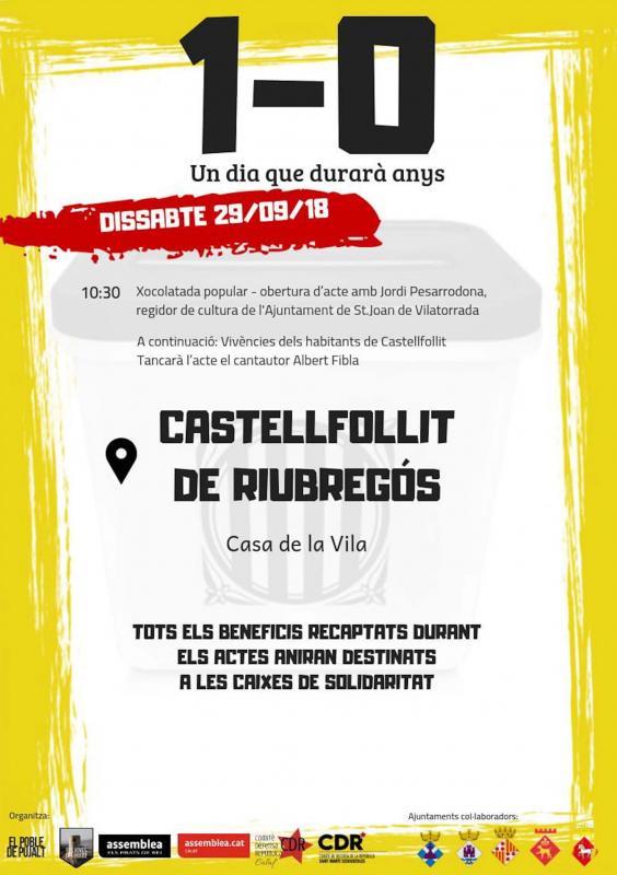 Actes commemoratius 1-Octubre Castellfollit de Riubregós -