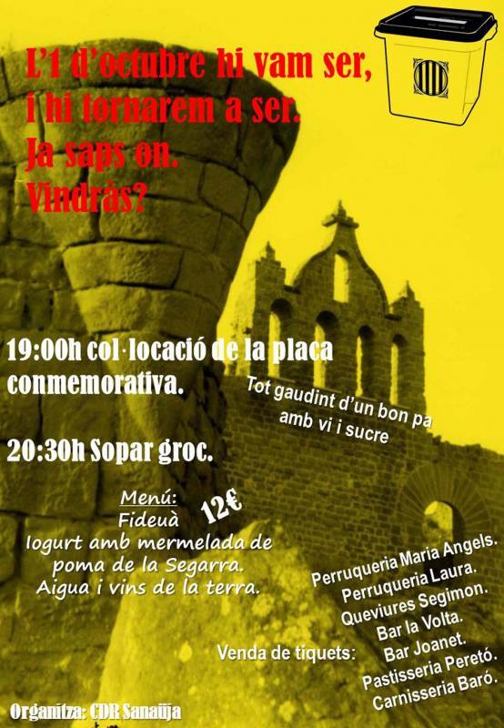 Actes commemoratius 1-Octubre Sanaüja -