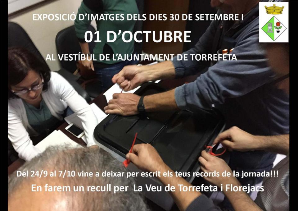Actes commemoratius 1-Octubre Torrefeta i Florejacs -