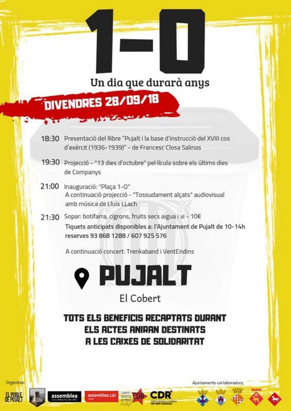Actes commemoratius 1-Octubre Pujalt -