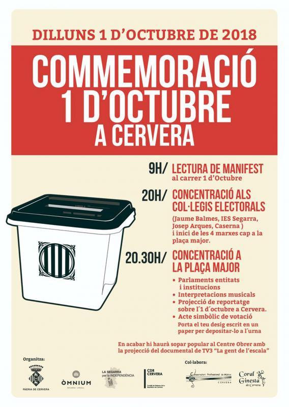Actes commemoratius 1-Octubre Cervera -